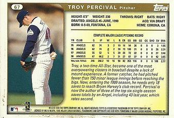 1999 Topps Troy Percival