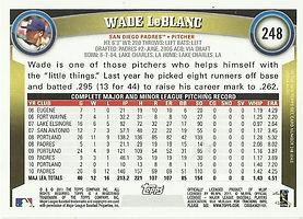 Topps Wade LeBlanc