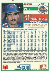 Score Keith Hernandez
