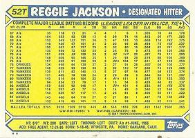 Topps Reggie Jackson