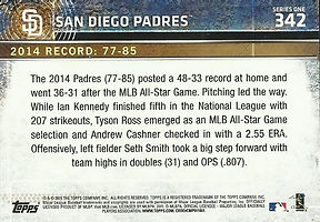 Topps San Diego Padres