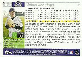 Topps Jason Jennings