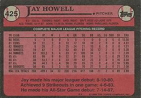 Topps Jay Howell