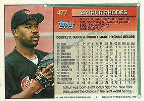 Topps Arthur Rhodes