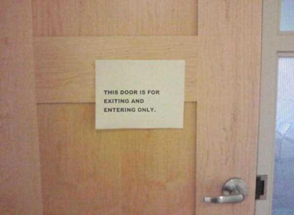 Screw rules. I'm gonna use this door to surf, too.