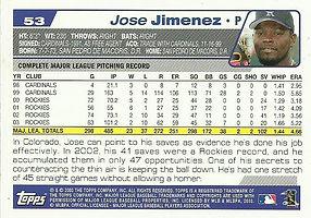 Topps Jose Jimenez