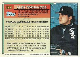 Topps Alex Fernandez