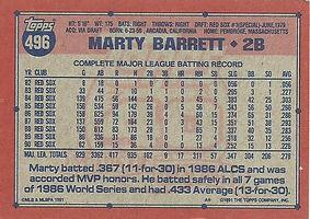 Topps Marty Barrett
