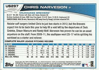 Topps Chris Narveson