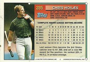 Topps Chris Hoiles