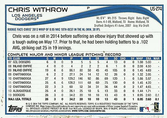Topps Chris Withrow