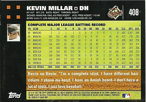 Topps Kevin Millar