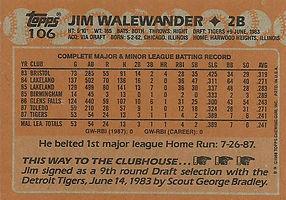 Topps Jim Walewander