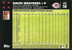 Topps David Weathers