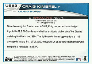 2013 Topps Craig Kimbrel All-Star