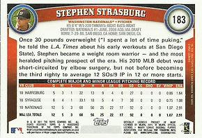 Topps Stephen Strasburg