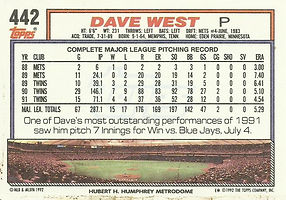 Topps Dave West