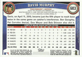 Topps David Murphy