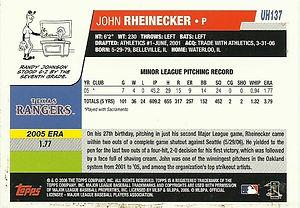Topps John Rheinecker