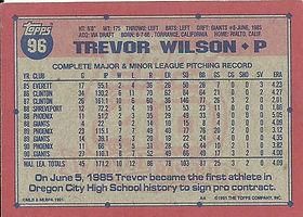 Topps Trevor Wilson