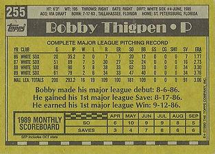 Topps Bobby Thigpen