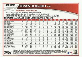 Topps Ryan Kalish