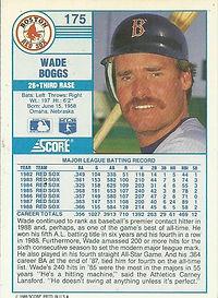 Score Wade Boggs