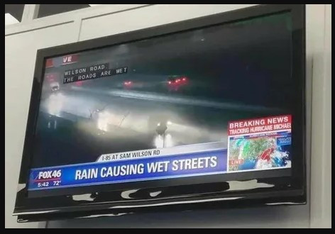 Are you SURE it's not the sun making the streets sweat?