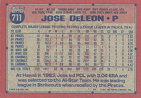 Topps Jose DeLeon