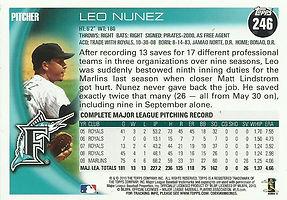 Topps Leo Nunez