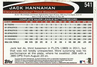 2012 Topps Jack Hannahan