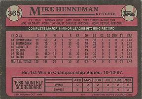 Topps Mike Henneman