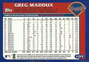 Topps Greg Maddux