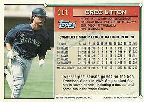 Topps Greg Litton