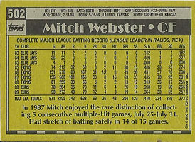 Topps Mitch Webster