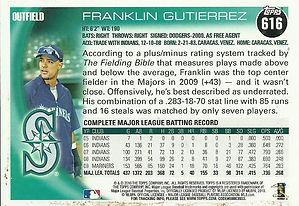 Topps Franklin Gutierrez
