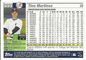 Topps Tino Martinez