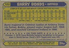 Barry Bonds Topps