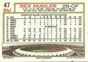 Topps Rex Hudler