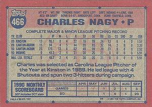Charles Nagy 1991 Topps