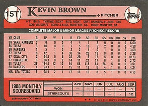 1989 Topps Kevin Brown