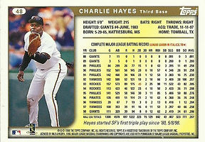 Topps Charlie Hayes