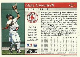 Score Mike Greenwell