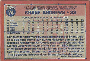 Topps Shane Andrews
