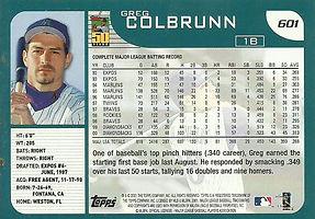 Topps Greg Colbrunn