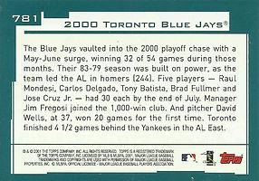 Topps Toronto Blue Jays