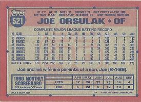 Topps Joe Orsulak
