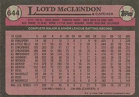 Topps Lloyd McClendon