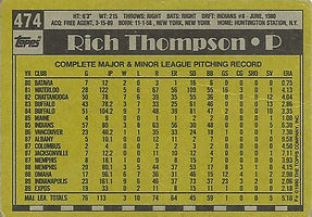Topps Rich Thompson