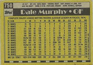 Topps Dale Murphy